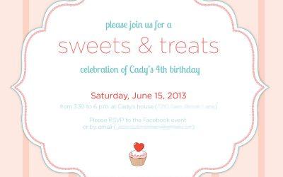 'Sweet' birthday invitation