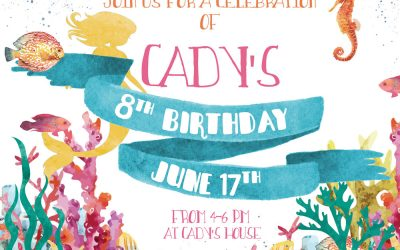 'Under the Sea' birthday invitation