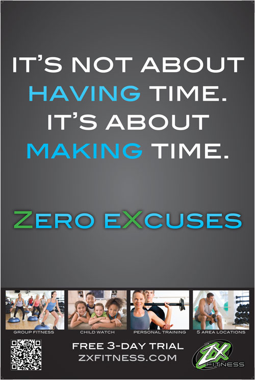 Fitness Center 'Zero Excuses' Campaign