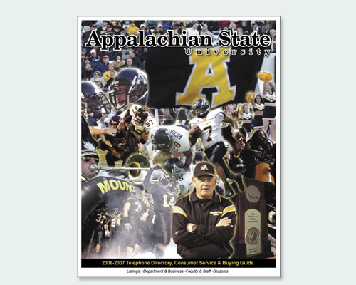 Appalachian State University campus telephone directory cover