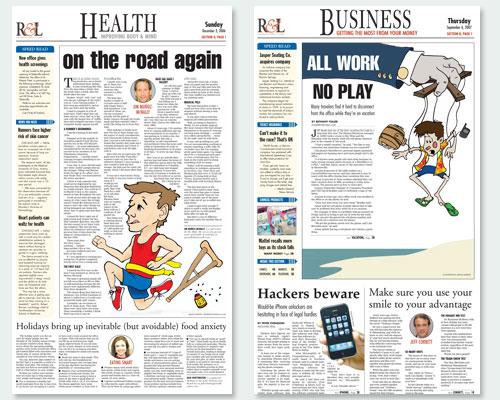 Newspaper Centerpiece Illustrations