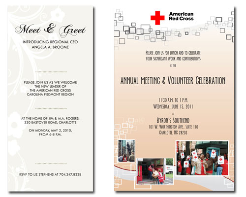 Red Cross Event Invitations