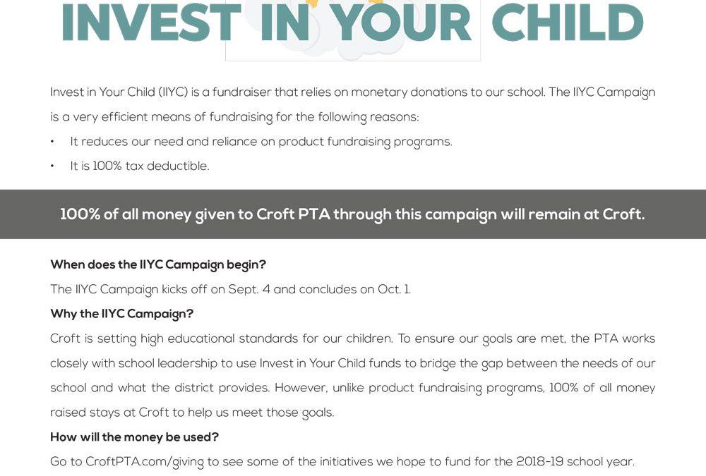 School fundraising flyer